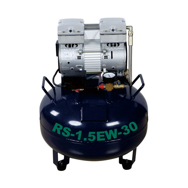 Oil free air compressor, 30L can support 1 dental unit