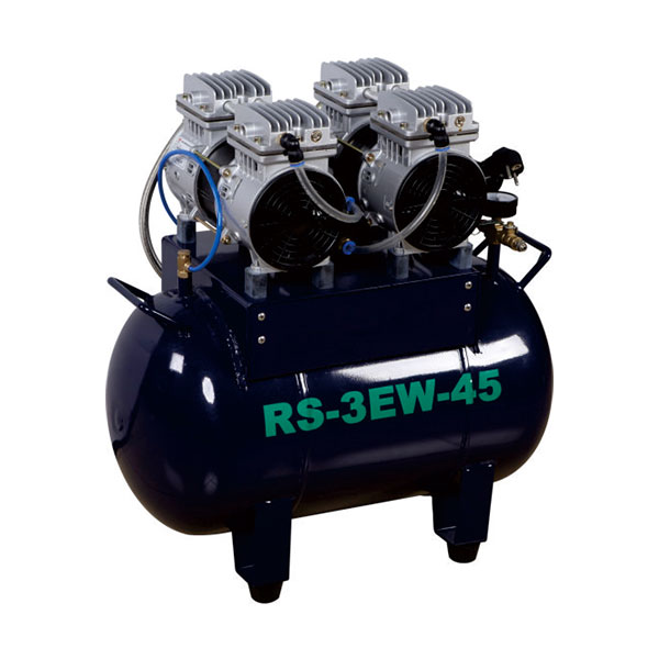 Oil free air compressor ,45L can support 3 dental unit