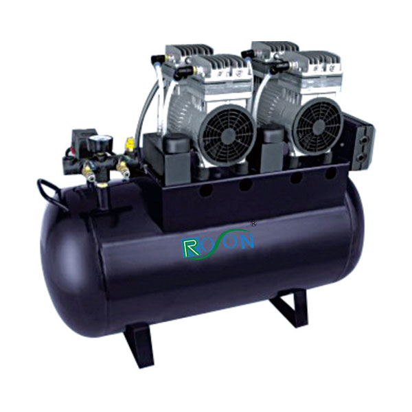Oil free air compressor, 65L can support 4 dental unit